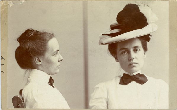 Lillie Williams alias Harrington. Age 23. Crime: Suspicion. Occupation: Housekeeper. Arrested August 11, 1901. Image courtesy of The OPP Museum.