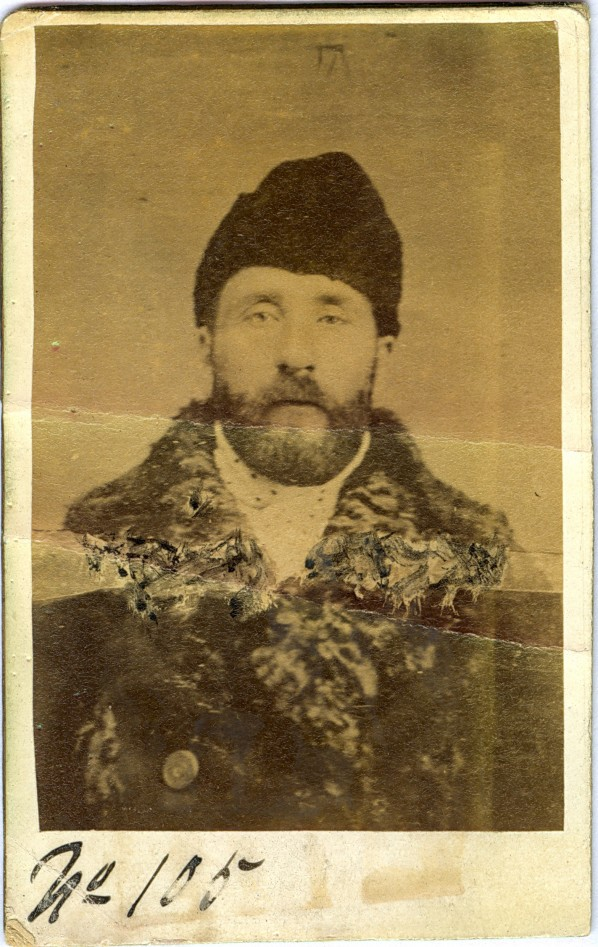 George Dutin. Notorious Horse Thief. Arrested January 2, 1893. Image courtesy of The OPP Museum.