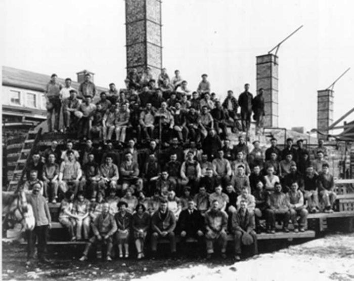 Medalta Workers. Photo Credit: Friends of Medalta Society Archive