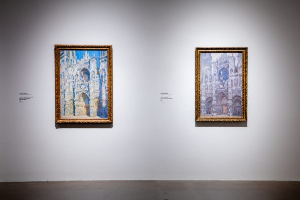 """Monet's exploration of light with his series of the Cathedral at Rouen mix Catholic iconography with Zen elements. """"The Buddhists believe in one reality that is in a constant state of change. Monet seems to be bringing both Christianity and Buddhism together here,"""" said Lochnan. Photo: Dean Tomlinson © Art Gallery of Ontario."""