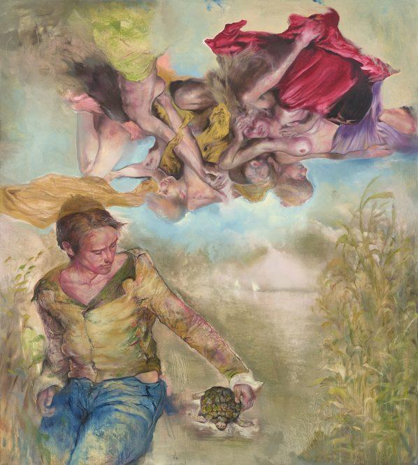 The Raft number nine, 2016, 200 cm x 180 cm, oil on canvas, Sabina Sakoh