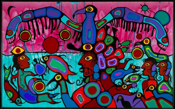 Norval Morrisseau, also known as Copper Thunderbird, Artist and Shaman Between Two Worlds, 1980