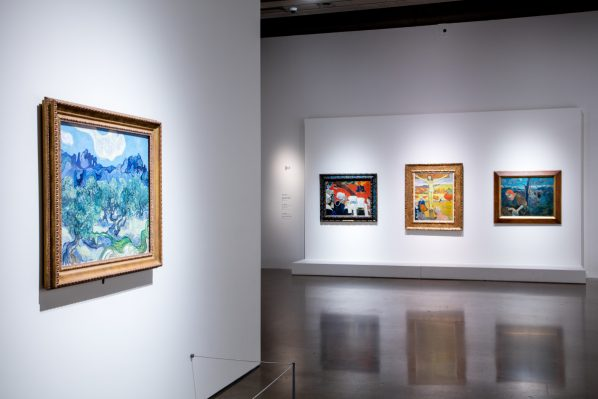 Dulac's contemporaries Van Gogh and Gaugin also explored the mystical. From the Mystical Landscapes Exhibition at the Art Gallery of Ontario. Photo: Dean Tomlinson © Art Gallery of Ontario.