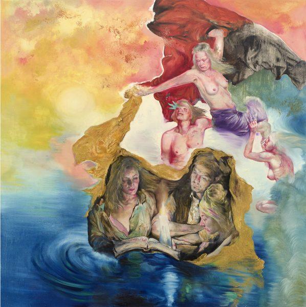 The Raft number eight, 2016, 200 cm x 200 cm, oil on canvas, Sabina Sakoh