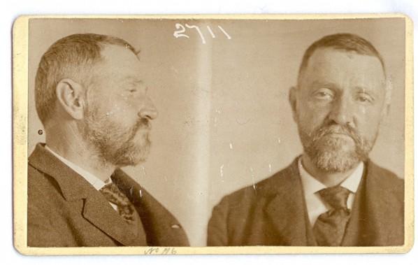 George Henry Appley alias Godfrey alias Stevens. Age: 54. Crime: Is an opium eater. Image courtesy of The OPP Museum.