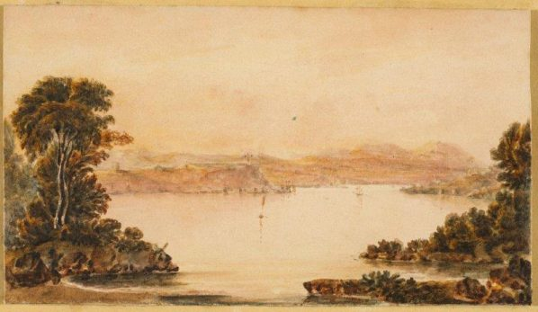 John Elliott Woodford, Quebec from the Etchimin near William Caldwell's, Looking to Montmorency, c. 1820-1823, British, Canadian, 1778 - 1866 Purchased 1979 with the assistance of a grant from the Government of Canada under the terms of the Cultural Property Export and Import Act, National Gallery of Canada (no. 23412), Photo © NGC