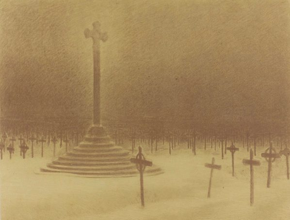 """Charles-Marie Dulac, French, 1865 - 1898, Auxilium Christianorum Jesu Refucium Nostrum, from """"Le Cantique des Créatures"""", 1894, lithograph on wove paperArt Gallery of Ontario. Purchased as a Gift of the Marvin Gelber Fund, 1997. Photo © Art Gallery of Ontario."""