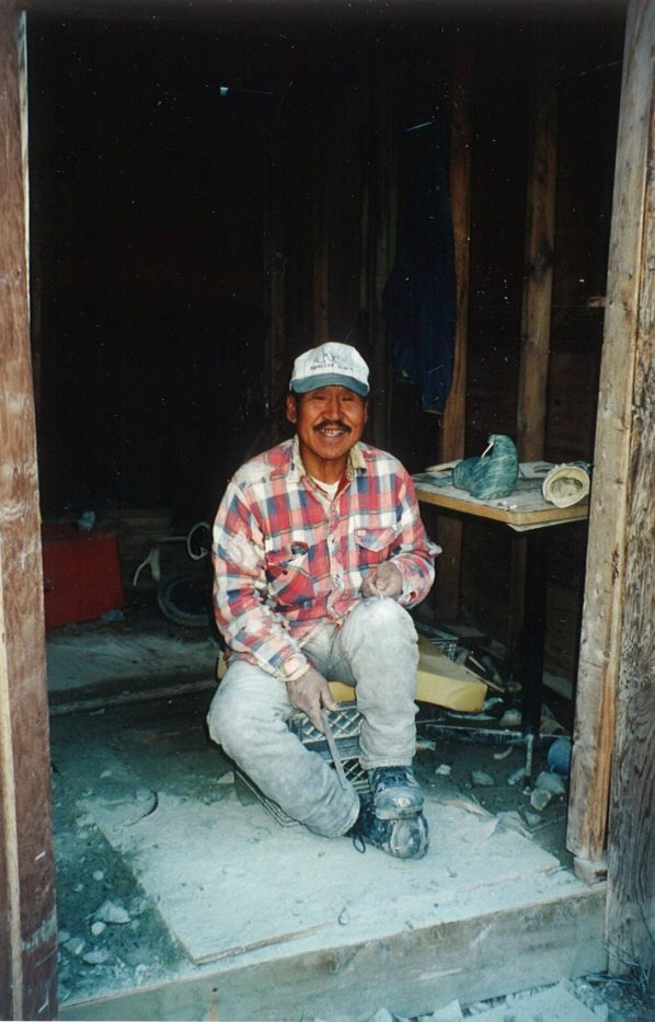I met this artist as he was working on his soap stone carvings which he sent to galleries in the south.