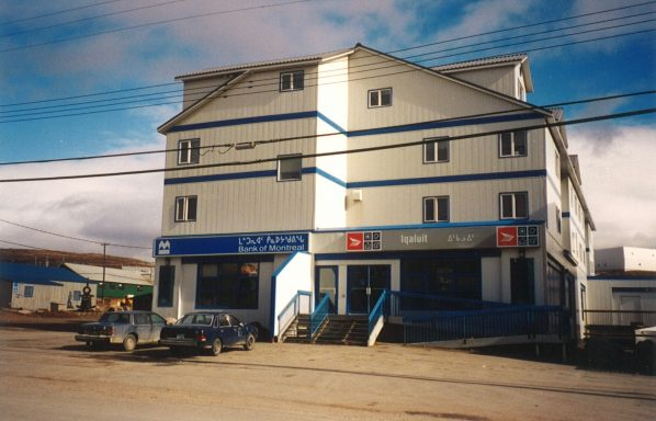 This post office had just been constructed when I arrived and displays the graphically elegant syllabics that are used in written Inuktitut.