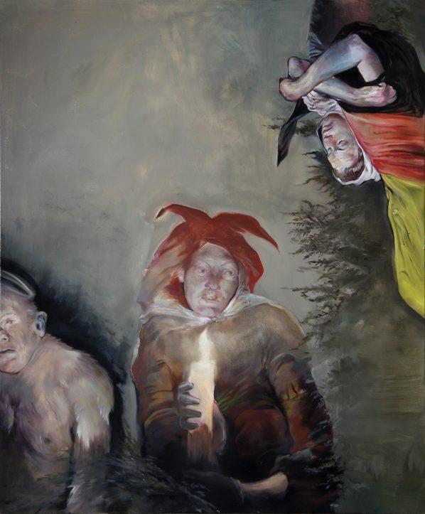 February '12, 2012, 180 cm x 150 cm, oil on canvas, Sabina Sakoh
