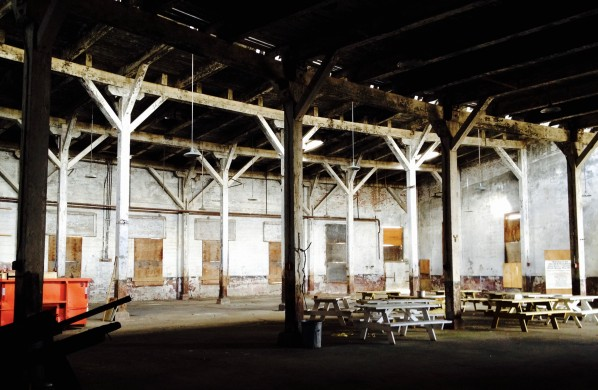 Inside of the roundhouse.
