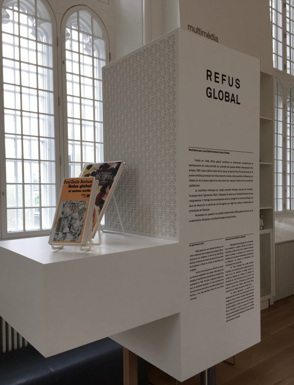 A permanent exhibition marks the importance of the Refus Global manifesto. Signed by 16 writers and artists in 1948, it has been called one of the most important documents in the history of Quebec and is widely seen as being an important contributing factor in the Quiet Revolution.