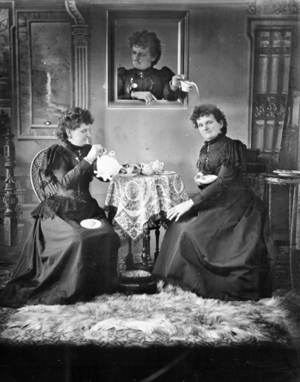 Hannah Maynard, Bude, England 1834–Victoria BC 1918, Untitled (Tea Time), Around 1893, Modern print from original glass negative, Royal BC Museum, BC Archives, Victoria.